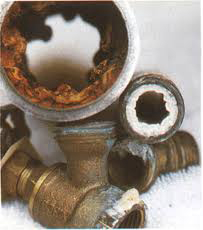 corroded water pipes